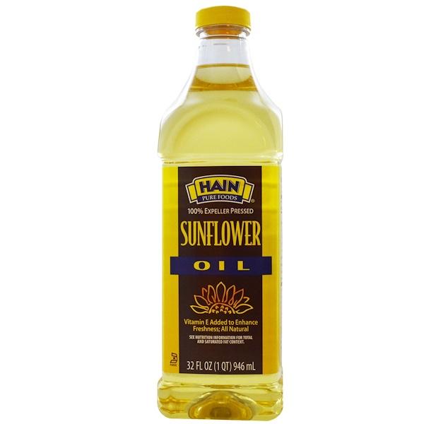 Hain Pure Foods, Подсолнечное масло, 32 жидкие унции (946 мл) (Discontinued Item)