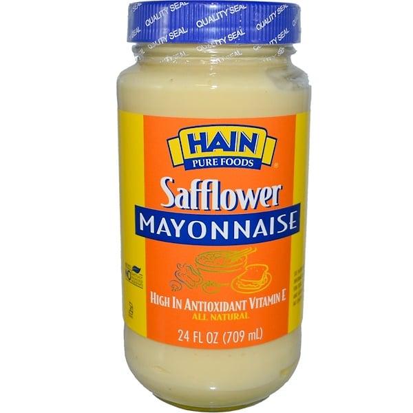 Hain Pure Foods, Safflower Mayonnaise, 24 fl oz (709 ml) (Discontinued Item)