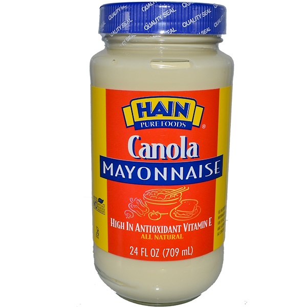 Hain Pure Foods, Канола Майонез 24 жидких унции (709 мл) (Discontinued Item)