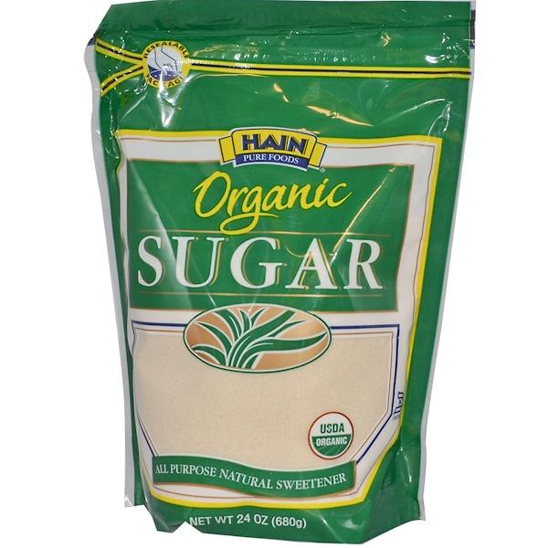 Hain Pure Foods, Organic Sugar, All Purpose Natural Sweetener, 24 oz (680 g) (Discontinued Item)