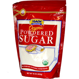 Hain Pure Foods, Organic Powdered Sugar, 16 oz (453 g)
