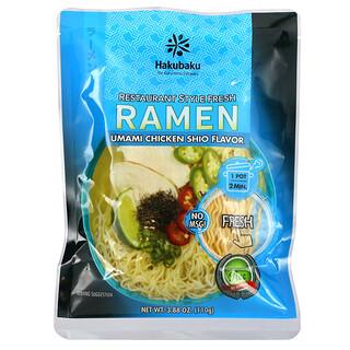 Hakubaku, Ramen, Umami Chicken Shio, 3.88 oz (110 g)