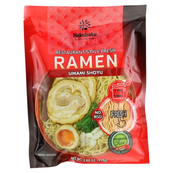 Hakubaku, Ramen, Shoyu, 3.88 oz (110 g)