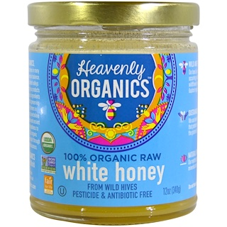 Heavenly Organics, 100% Organic Raw White Honey, 12 oz (340 g)