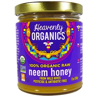 Heavenly Organics, Miel de Nim cruda 100% orgánica, 12 oz (340 g)