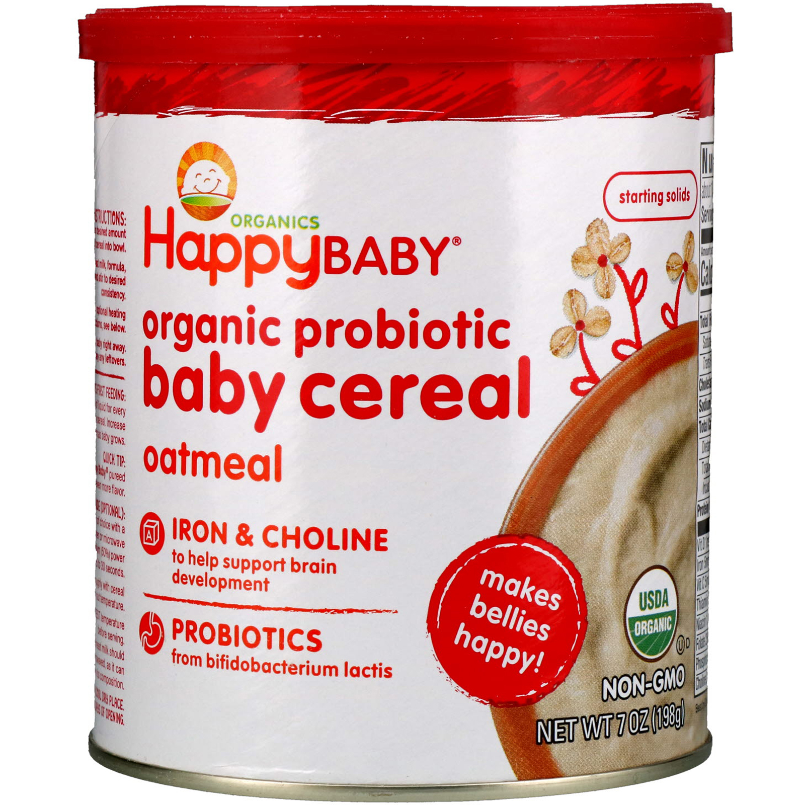 Happy Family Organics, Organic Probiotic Baby Cereal