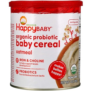 Нэйчэ Инк (Хэппи Бэби), Organic Probiotic Baby Cereal, Oatmeal, 7 oz (198 g) отзывы