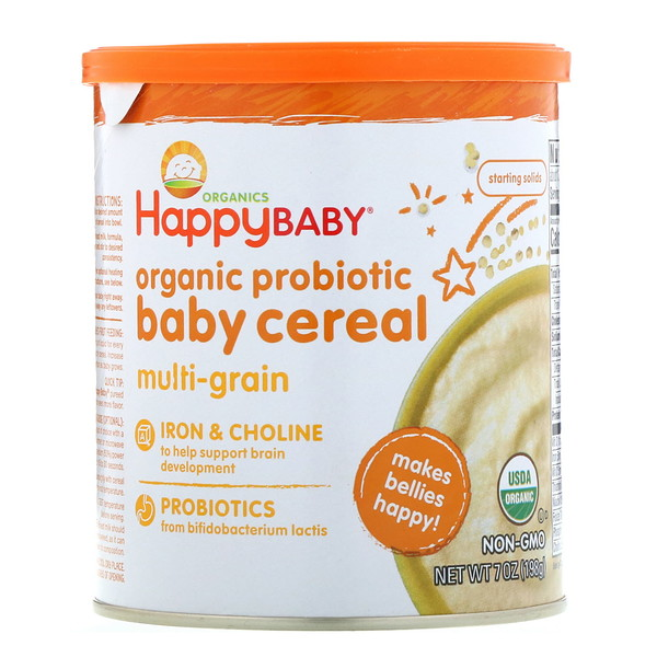 Happy Family Organics, Organic Probiotic Baby Cereal, Multi-Grain, 7 oz (198 g) (Discontinued Item)