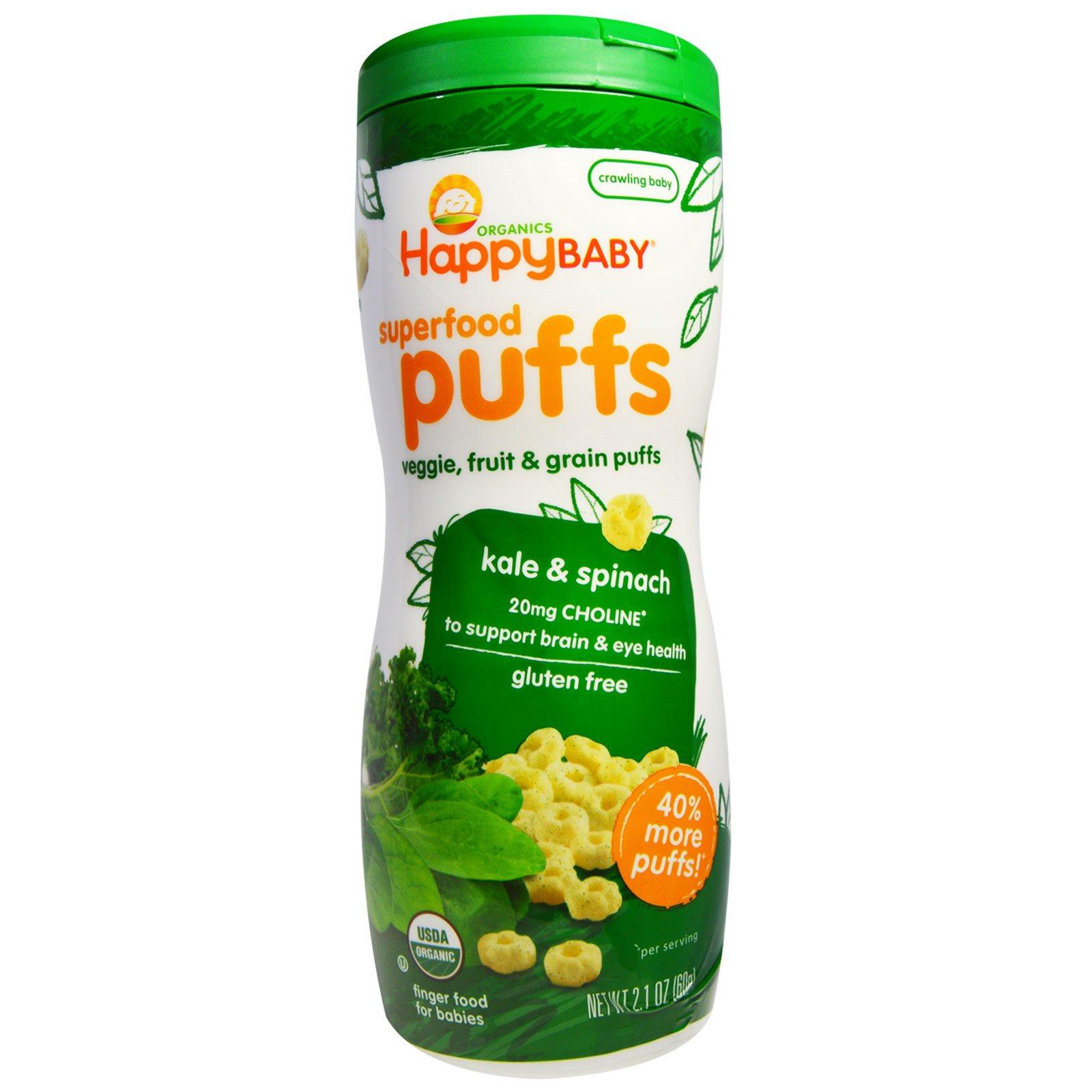 Happy Family Organics Superfood Puffs Veggie Fruit