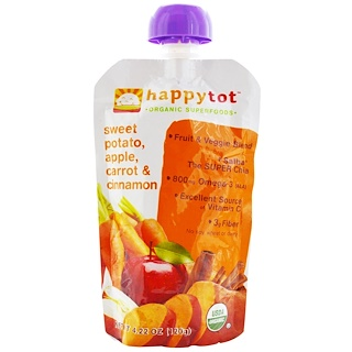 Nurture Inc. (Happy Baby), Happytot, Organic Superfoods,  Sweet Potato, Apple, Carrot & Cinnamon, 4.22 oz (120 g)