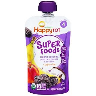 Nurture Inc. (Happy Baby), HappyTot, Organic SuperFoods, Bananas, Peaches, Prunes & Coconut + Superchia, 4.22 oz (120 g)