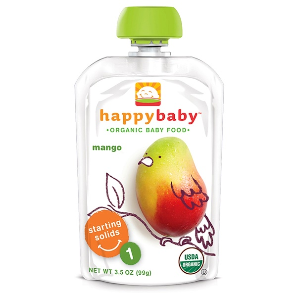 Nurture Inc. (Happy Baby), Organic Baby Food, Stage 1, Mango, 3.5 oz (99 g) (Discontinued Item)