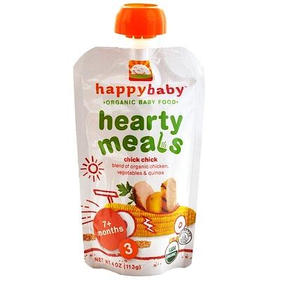 Nurture Inc. (Happy Baby) 有機嬰兒食品,豐盛的飯菜,雞肉,階段3, 4盎司(113克)