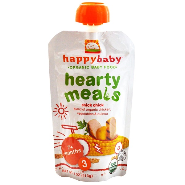 Nurture Inc. (Happy Baby), Organic Baby Food, Hearty Meals, Chick Chick, Stage 3, 4 oz (113 g)
