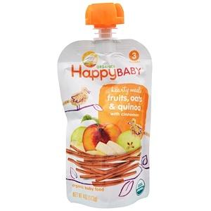 Нэйчэ Инк (Хэппи Бэби), Organic Baby Food, Hearty Meals, Fruits, Oats & Quinoa, Stage 3, 4 oz (113 g) отзывы покупателей