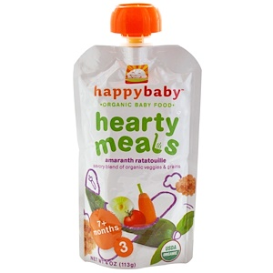 Нэйчэ Инк (Хэппи Бэби), Organic Baby Food, Hearty Meals, Amaranth Ratatouille, Stage 3, 4 oz (113 g) отзывы покупателей