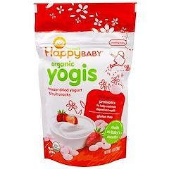 Nurture Inc. (Happy Baby), happyyogis, aperitivos de yogur y frutas, frutilla, 1 oz (28 g)