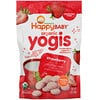 Happy Family Organics, Organic Yogis, Freeze Dried Yogurt & Fruit Snacks, Strawberry, 1 oz (28 g)