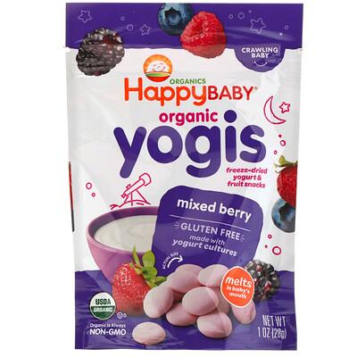 Купить Yogis, органические снеки из сублимированного йогурта с фруктами, ягодная смесь, 28 г