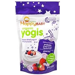 Nurture Inc. (Happy Baby), Organic Yogis, Freeze Dried Yogurt & Fruit Snacks, Mixed Berry, 1 oz (28 g)