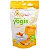 Happy Family Organics, Snacks Organic Yogis, secos por congelado de yogur y fruta, banana y mango, 1 oz (28 g)
