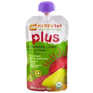 Нэйчэ Инк (Хэппи Бэби), Happytot, Fruit and Veggie Blend, Plus, Strawberry, Kiwi, Beet & Pear, 4.22 oz (120 g) отзывы