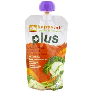 Nurture Inc. (Happy Baby), Happytot, Fruit and Veggie Blend, Plus, Kale, Apple & Mango, 4.22 oz (120 g)