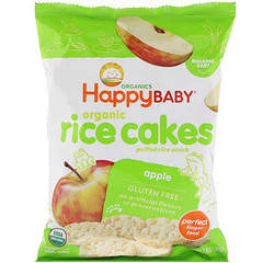 Happy Family Organics, Organic Rice Cakes, Puffed Rice Snack, Apple, 1.4 oz (40 g)