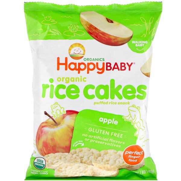 Galettes de riz biologiques, En-cas au riz soufflé, Pomme, 40g
