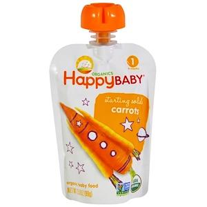 Нэйчэ Инк (Хэппи Бэби), Organic Baby Food, Carrots, Stage 1, 4+ Months, 3.5 oz (99 g) отзывы