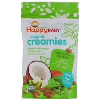 Nurture Inc. (Happy Baby), Organic Creamies, Freeze-Dried Veggie & Fruit Snacks, Apple, Spinach, Pea & Kiwi, 1 oz (28 g)