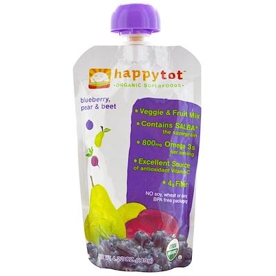 Nurture Inc. (Happy Baby) Happytot,有機超級食品,藍莓、梨和甜菜,4.22盎司(120克)