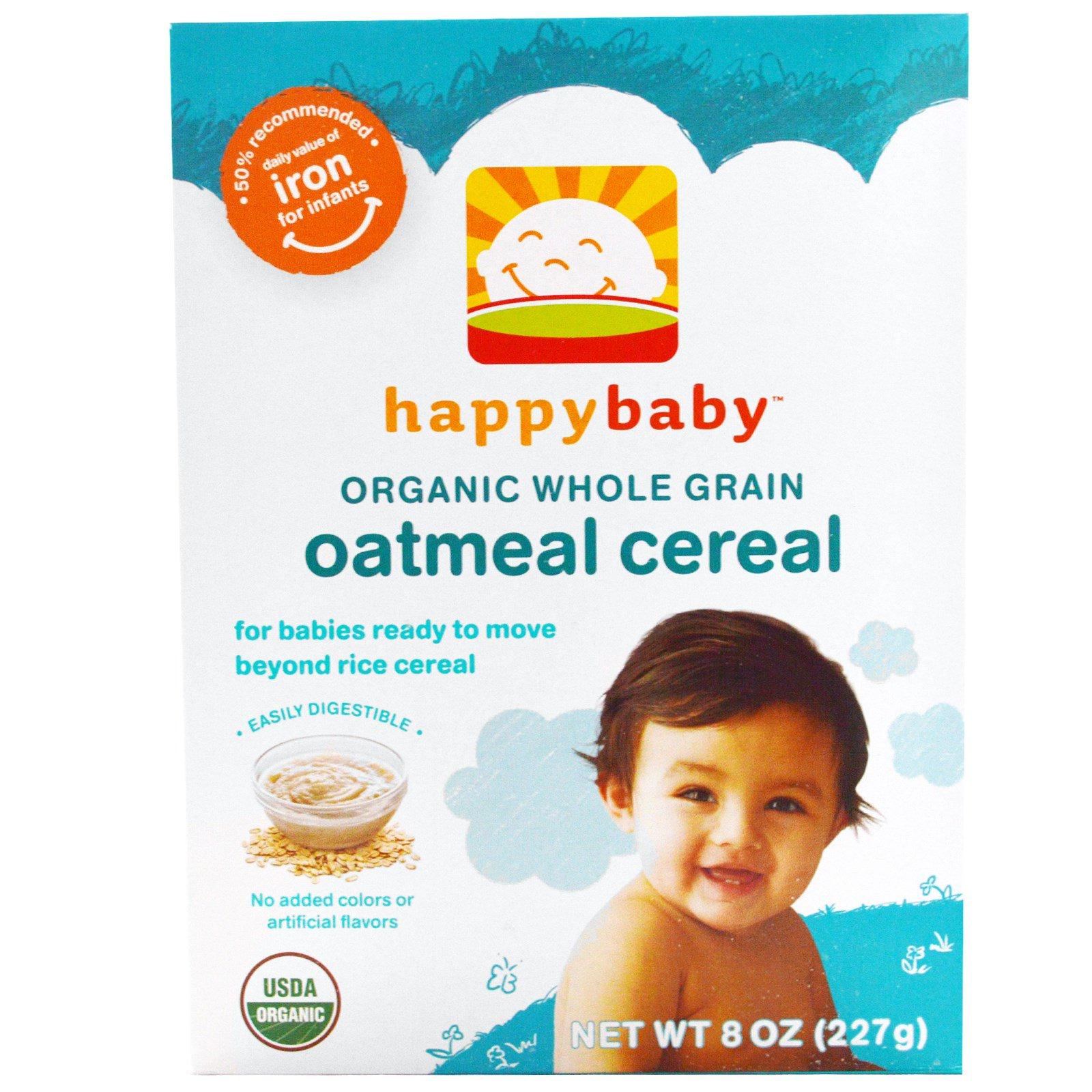 Happy Family Organics, Organic Whole Grain Oatmeal Baby