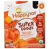 Nurture Inc. (Happy Baby), HappyTot, SuperFoods, Organic Apples, Sweet Potato, Carrots & Cinnamon + Superchia, 4 Pouches - 4.22 oz (120 g) Each