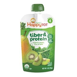 Nurture Inc. (Happy Baby), Happy Tot, Fiber & Protein, Organic Pears, Kiwi & Kale, Stage 4, 4 oz (113 g)
