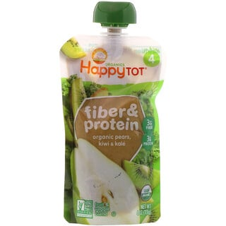 Happy Family Organics, Happy Tot, Fiber & Protein, Organic Pears, Kiwi & Kale, Stage 4, 4 oz (113 g)