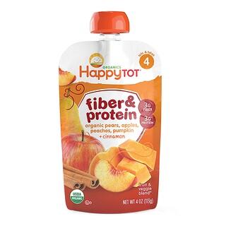 Nurture Inc. (Happy Baby), Happy Tot, Fiber & Protein, pears, apples, peaches, pumpkin & cinnamon, Stage 4, 4 oz (113 g)