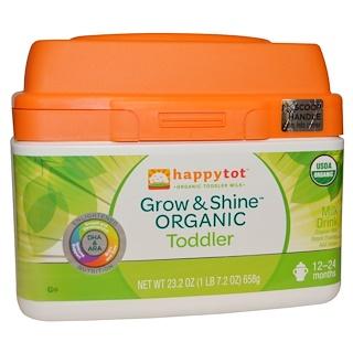 Nurture Inc. (Happy Baby), Happytot, Organic Milk Based Powder, Grow & Shine Toddler, 23.2 oz (658 g)