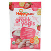 Happy Family Organics, Organic Greek Yogis, בננה תות, 28 גרם