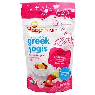 Nurture Inc. (Happy Baby), Organic Greek Yogis, Strawberry Banana, 1 oz (28 g)