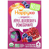 Happy Family Organics, Happy Kid, Organic Apple, Blueberry & Pomegranate, 4 Pouches, 3.17 oz (90 g) Each