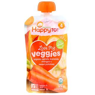 Happy Family Organics, Organics Happy Tot, Love My Veggies, Organic Carrots, Bananas, Mangos & Sweet Potatoes, 4.22 oz (120 g)