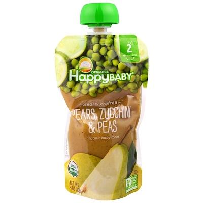 Фото - Organic Baby Food, Stage 2, Clearly Crafted 6+ Months, Pears, Zucchini & Peas, 4.0 oz (113 g) clearly crafted органическое детское питание этап 2 для детей старше 6 месяцев яблоко листовая капуста и авокадо 113 г 4 унции