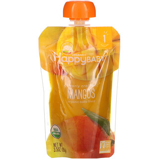 Happy Family Organics, Organic Baby Food, Stage 1, Mangos, 3.5 oz (99 g)