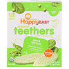 Nurture Inc. (Happy Baby), Organic Gentle Teething Wafers, Sitting Baby, Pea & Spinach, 12 Packs, 0.14 oz (4 g) Each