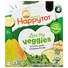 Happy Family Organics, Happy Tot, Love My Veggies, Zucchini, Pears, Chickpeas & Kale, 4 Pouch, 4.22 oz (120 g) Each