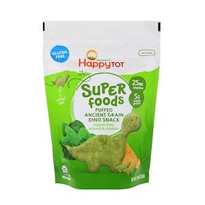 Нэйчэ Инк (Хэппи Бэби), Organics Happy Tot, Super Foods, Puffed Ancient Grain Dino Snack, Organic Kale, Spinach & Cheddar, 1.48 oz (42 g) отзывы