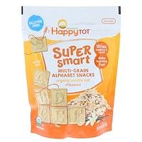 Happy Tot, супер-полезные многозерновые буквы, органическая ваниль, овес, льняное семя, 4,4 унц. (125 г) - фото