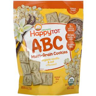 Happy Family Organics, 快樂兒童,超智慧,多種穀物字母零食,有機香草燕麥+亞麻籽,4.4 盎司(125 克)