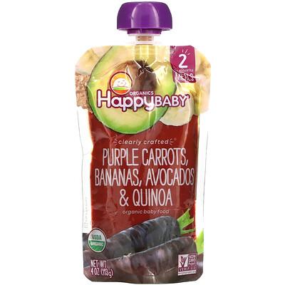 Купить Happy Family Organics Happy Baby, Stage 2, Purple Carrots, Bananas, Avocados & Quinoa, 4 oz (113 g)